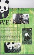 Hong Kong - 199? WWF Panda Set (3) - Mint In Folder - Hong Kong