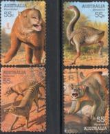 2008 AUSTRALIA 55¢ BOOKLET SELF-ADHESIVE MEGAFAUNA Stamp Complete Set Fine Used - 2000-09 Elizabeth II