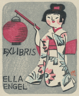 Ex Libris Ella Engel - Senpan Maekawa (1888-1960) - Ex-libris