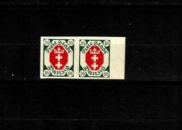 Danzig: MiNr. 80U, Postfrisch, **, Waagrechtes Paar Vom Rand - Danzig