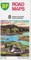 Ecosse, Carte Routière BP 1972 -  Road Maps Western Scotland And The Hebrides N° 8 - Cartes Routières