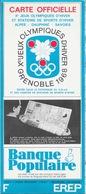 Carte Officielle Xe Jeux Olympiques D'Hiver Grenoble Dauphiné Savoies C.O.J.O. 1968 - 1/400 000e - Cartes Routières
