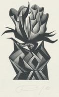 Ex Libris Vera Krupkova - Anatoly Kalashnikov (1930-2007) Gesigneerd - Ex-libris