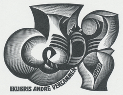 Ex Libris Andre Vercammen - Anatoly Kalashnikov (1930-2007) - Ex-libris