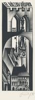 Ex Libris Václav Křupka - Anatoly Kalashnikov (1930-2007) Gesigneerd - Ex-libris