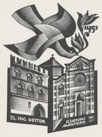 Ex Libris Gianni Mantero - Anatoly Kalashnikov (1930-2007) - Ex-libris