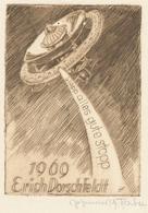 Nieuwjaarskaart Erich Dorschfeldt - Fischer (gesigneerde Ets) - Prenten & Gravure