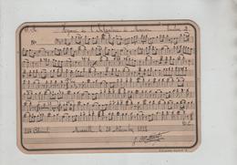 Partition Cartonnée Manuscrite Militaire Hymne De L'Infanterie De Marine Trombone Marseille 22 ème Colonial 1922 - Altri