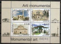 KOSOVO 2017,ARCHITECTURE,MONUMENTAL ART,RELIGION,BLOCK,RELIGION,MNH - Churches & Cathedrals