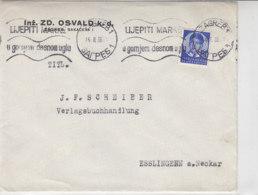 Brief Aus ZAGREB 14.2.36 Nach Esslingen - 1931-1941 Royaume De Yougoslavie