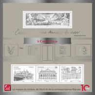 France 2019 - Yv N° F5368 ** - Bloc - Carré D'Encre Argenté (timbres 5368 à 5371) - Neufs