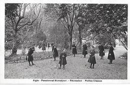 VD Vaud. Aigle. Pensionnat Monséjour, Les Petites Classes Pendant La Récréation. - VD Vaud