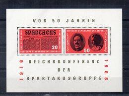 Germania - DDR - 1966 - Blocco Foglietto - 50 Anni Gruppo Spartacus - Nuovo - (FDC20060) - [6] Oost-Duitsland