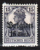 German Occupied Belgium 1916 Single 15c Stamp With Overprints On Germania. - Occupation 1914-18