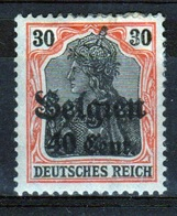 German Occupied Belgium 1916 Single 40c Stamp With Overprints On Germania. - Occupation 1914-18