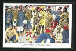 Künstler-AK Ernst Heilemann: Kulturbrüder Im Kriegsgefangenenlager - Guerre 1914-18