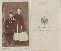 CDV Vers 1870- 2 écoliers-mode Par Jeannon à Versailles - Anciennes (Av. 1900)