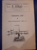 GF_1951 CATALOGUE INSTRUMENTS DE CHIRURGIE D.SIMAL 26, RUE DES ECOLES 75005 PARIS ATELIERS 20, RUE LAUREY 75020 PARIS - Santé