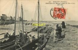 29 Roscoff, Débarcadère Des Bateaux Venant De L'Ile De Batz, Affranchie 1910, Beau Plan - Roscoff
