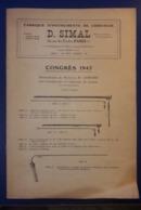 GF_1947 CATALOGUE INSTRUMENTS DE CHIRURGIE D.SIMAL 26, RUE DES ECOLES 75005 PARIS ATELIERS 20, RUE LAUREY 75020 PARIS - Santé