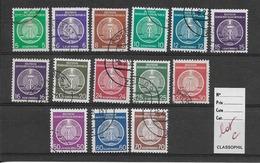 DDR. Allemagne Service OBLITERES 1954 YT 01 à 17 Manque N° 3 Timbres ((12, 13 Et 17))   FOND PLEIN // LOT C - Service