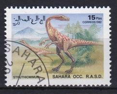 Sahara OCC 1992 Single 15 Ptas Stamp Highlighting Dinosaurs. - Cinderellas