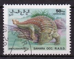 Sahara OCC 1992 Single 50 Ptas Stamp Highlighting Dinosaurs. - Cinderellas