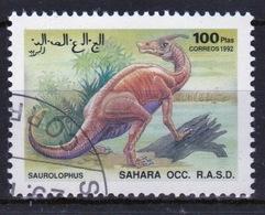 Sahara OCC 1992 Single 100 Ptas Stamp Highlighting Dinosaurs. - Cinderellas