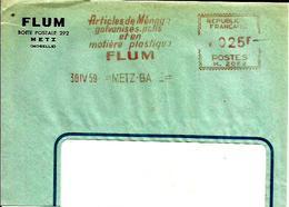 Lettre  EMA   Havas M 1959 FLUM Article De Menage  Metal Plastique  Metier Metz C6/39 - Factories & Industries