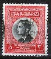 Jordan 1959 Single 3 Fils Definitive Stamp Showing King Hussein. - Jordanien