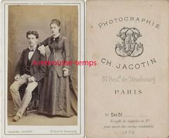 CDV En 1879-couple-photographie Jacotin à Paris - Old (before 1900)