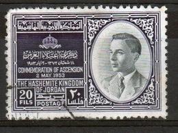 Jordan 1953 Single 20 Fils Definitive Stamp Showing The Enthronement Of King Hussein. - Jordan