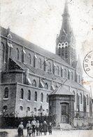 Godewaersvelde. L'Eglise (Animée). Cachet Convoyeur Ambulant Godewaersvelde à Hazebrouck. - Autres Communes