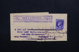 FRANCE - Type Mazelin Préoblitéré Sur Bande Journal De Paris Pour Limoges Et Redirigé Vers Toulouse - L 53559 - 1921-1960: Modern Tijdperk
