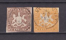 Württemberg - 1859 - Michel Nr. 11/12 - Gest. - 148 Euro - Wuerttemberg