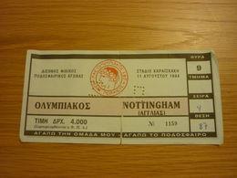 Olympiakos-Nottingham Forest Friendly Game Football Match Ticket Stub 11/08/1994 - Tickets & Toegangskaarten