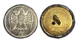 Bouton De La Garde Nationale. Gardes à Pied (1852-1870) Napoléon III°. 21 Mm. - Boutons