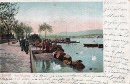 CPA   SUISSE    ZURICH   AM UTOQUAI---1906 - ZH Zurich