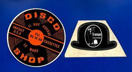 2 A.C. TRAMPS Discothèque + LE MANS DISCO-SHOP - Stickers
