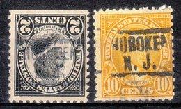 USA Precancel Vorausentwertung Preo, Locals New Jersey, Hoboken 549 (NC), 2 Diff. Perf. 11x10 1/2 - Vereinigte Staaten