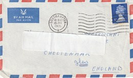 Letter Circulated. United Kingdom. Stamp. Postmark Lichfield. 1971. Postal Flame. Remember To Use The Post Code. - Postmark Collection