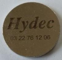 Jeton De Caddie - Hydec - Hydraulique - Equipements Et Conception - En Métal - - Trolley Token/Shopping Trolley Chip