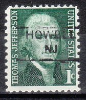 USA Precancel Vorausentwertung Preo, Locals New Jersey, Howell 852 - Vereinigte Staaten
