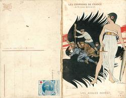 LES CHANSON DE FRANCE -(de Maurice Boukay) - Les Aigles Noirs! Illustrée Par Fabiano (carte Double Vendue En L'état). - Guerre 1914-18