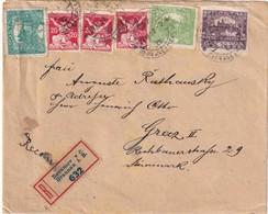 TCHECOSLOVAQUIE 1920 LETTRE RRCOMMANDEE DE BRAUNAU - Czechoslovakia