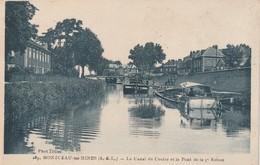 Rare Cpa Montceau Les Mines Le Canal Du Centre Et Le Pont De La 9 E écluse - Montceau Les Mines