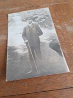JUGEND IN DEUTSCHLAND DAZUMAL - JUNGER MANN MIT STOCK UND SCHIRMMUETZE - FRANZ - Von GEYER Nach PAUSA I V. - 1910 - Identifizierten Personen