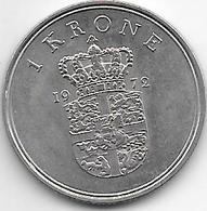 *Denmark 1 Krone 1972 Km 851.2  Xf+ - Danimarca