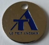 Jeton De Caddie - T A - LE TOIT ANGEVIN - Agence MONTPLAISIR - 49 ANGERS - En Métal - Neuf - - Jetons De Caddies