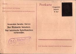 ! Not Ganzsache (PB 646 ?) Melsdorf über Kiel Schleswig Holstein, Rückseitig AM Post Marken Hannover SSt 1945 - Zona Anglo-Americana